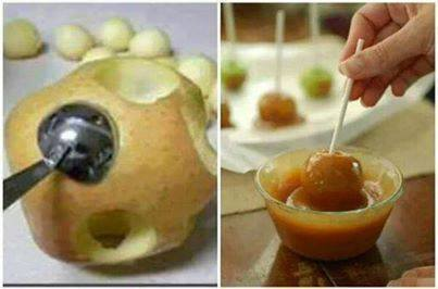 caramel apple balls