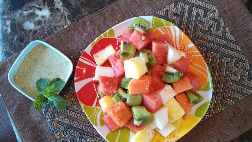 Cubed Tropical Fruit Salad 1