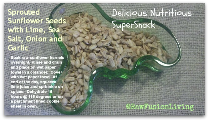sunflower seeds sprouted snack