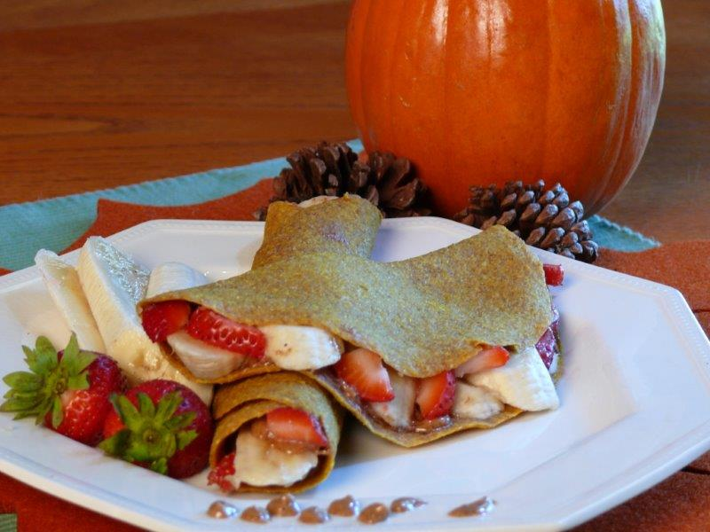pumpkin breakfast crepes