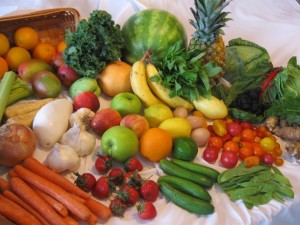 Fruits and veggies pump up your health.