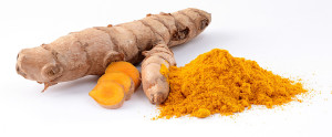 Tumeric plant and powder by Simon A. Eugster